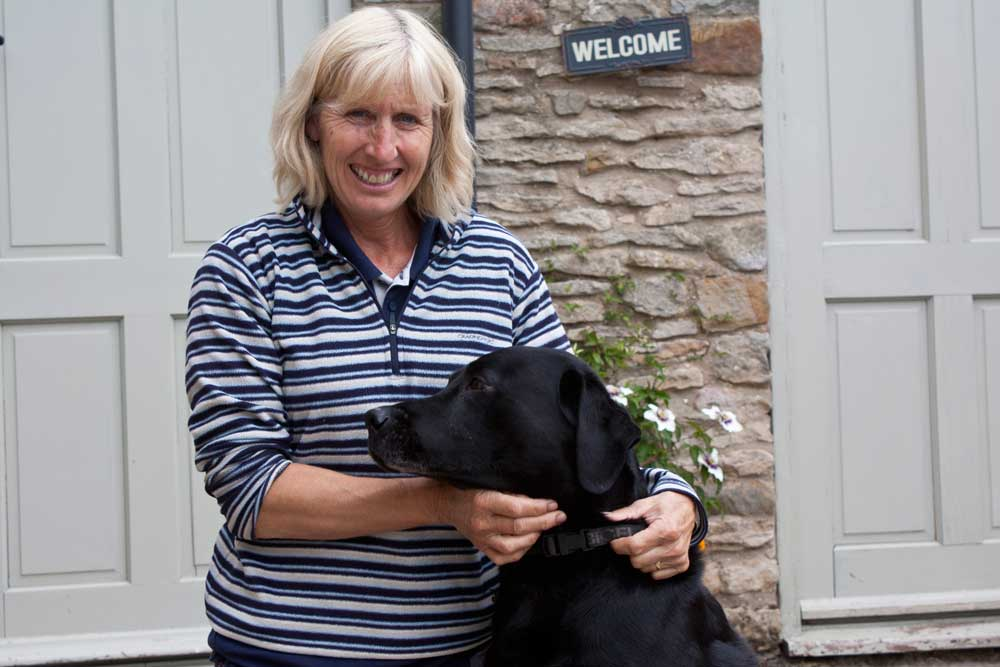 Sue and Max. Dogs are most welcome!